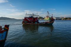 Fishing boat in Songkhla Lake. Fishing boat in the Songkhla Lake, Songkhla province, Thailand royalty free stock photography