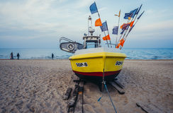 Fishing boat in Sopot Royalty Free Stock Image