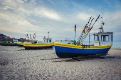 Fishing boat in Sopot Royalty Free Stock Images