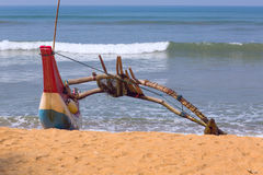 Fishing boat. Fishing spoon on the ocean, Sri Lanka Stock Photo