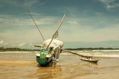 Fishing boat on Sri Lanka Stock Photos