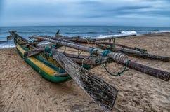 Fishing boat on Sri-Lanka Royalty Free Stock Photos