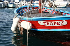 Fishing Boat in St Tropez royalty free stock image