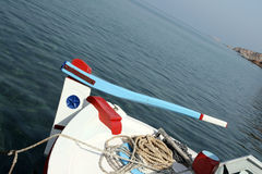 Fishing boat steering Royalty Free Stock Images