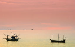 Fishing boat. Stop near the beach stock images