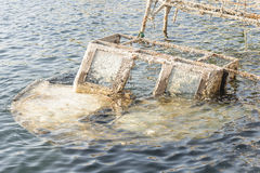 Fishing boat sunk Stock Photos