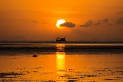 Fishing boat sunrise Stock Images