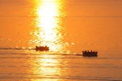 Fishing boat at sunrise. Stock Photography