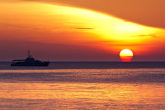 Fishing Boat at Sunrise Royalty Free Stock Photography