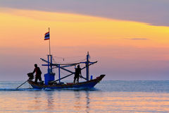 Fishing Boat at Sunrise Royalty Free Stock Image