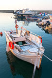 Fishing boat at sunset. Royalty Free Stock Photos