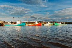 Fishing boat during sunset Royalty Free Stock Photography