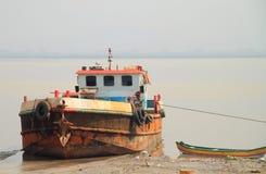 Fishing boat in surburb of Mumbai Royalty Free Stock Image