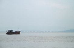 Fishing boat in surburb of Mumbai Royalty Free Stock Images