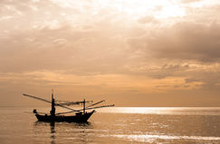 Fishing boat thai on the sea Royalty Free Stock Images