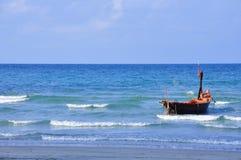 Fishing boat in Thai sea at Rayong Royalty Free Stock Photos