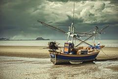 Fishing boat. Thai small fishing boat at the sea Stock Images