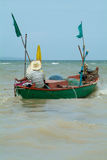 Fishing-boat in Thailand. Small fishing-boat leaving the coast of Na Jomtien, Chonburi province, Thailand Stock Photography