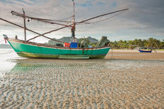 Fishing boat , Thailand. Fishing boat on the beach, Thailand Stock Photos