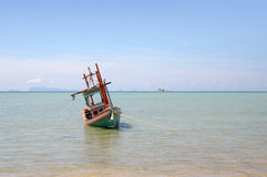Fishing Boat - Thailand. Traditional Thai Fishing Boat Stock Photo