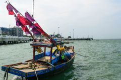 Fishing boat. Thailand royalty free stock photo