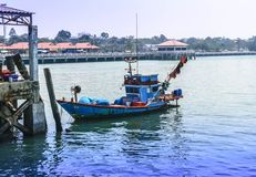 Fishing boat. In thailand royalty free stock image