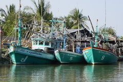 Fishing boat. In Thailand royalty free stock photography