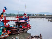Fishing boat in Thailand at the harbor. stock images