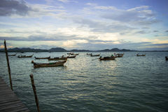 Fishing boat in thailand. Thai traditional boat for fisherman Royalty Free Stock Photography