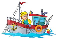 Fishing boat theme image 1. Eps10 vector illustration Stock Photography