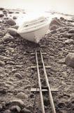 Fishing boat to seacoast Stock Image