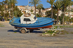 Fishing Boat On A Trailer Royalty Free Stock Photos