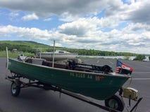 Fishing boat on trailer