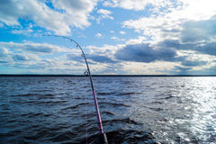 Fishing from a boat Royalty Free Stock Images