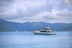 Fishing boat in the tropics. Large and luxurious fishing boat cruising through the tropics Royalty Free Stock Photography