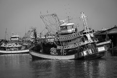 Fishing Boat on the Turn Stock Photo