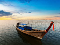 Fishing boat on twilight time Royalty Free Stock Photography