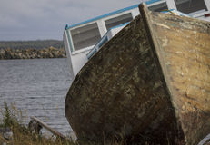 Fishing boat under repair Stock Photo