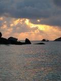 Fishing Boat under Sunset/Sunrise Stock Photo