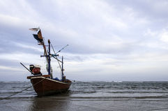 Fishing boat used as a vehicle for finding fish Royalty Free Stock Photo