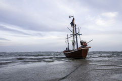 Fishing boat used as a vehicle for finding fish Stock Images