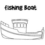Fishing boat of vector art. Collection stock Stock Photos