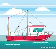 Fishing Boat vector eps Royalty Free Stock Photography