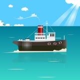 Fishing boat vector illustration Stock Photo