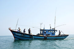 Fishing boat in Vietnam Stock Photo