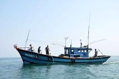Fishing boat in Vietnam Stock Photo