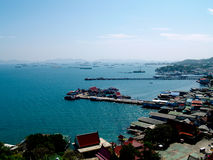 Fishing Boat Village at Koh Si Chang Royalty Free Stock Images
