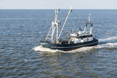 Fishing boat on Wadden Sea Royalty Free Stock Images