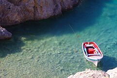 Fishing Boat in Water Royalty Free Stock Images