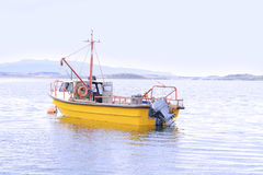 Fishing boat on water. Royalty Free Stock Photos